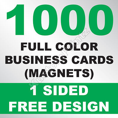 1000 Custom Full Color Business Card Magnets | Glossy Uv Finish | Free Design