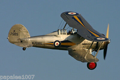 """Model Airplane Plans: GLOSTER GLADIATIOR 1/12 Scale 32"""" FF  for 1/2A (.75-1cc)"""