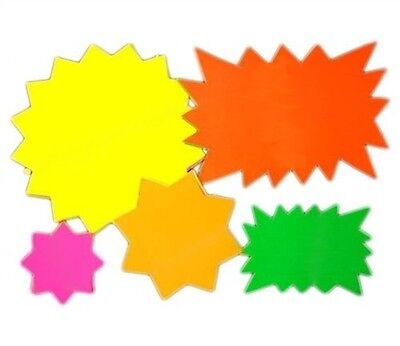 Neon Cards Fluorescent Stars Flash Price Display Tags Flourescent Labels Shop