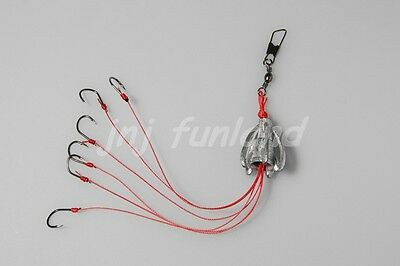 Special Design Carp Fishing 6 Fishing Hooks with Lead Cap Fishing Rig