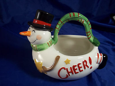 Fitz and Floyd Holiday Wishes Basket Holiday Home NIB!!!