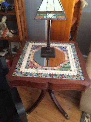 Antique Table with ceramic tile top