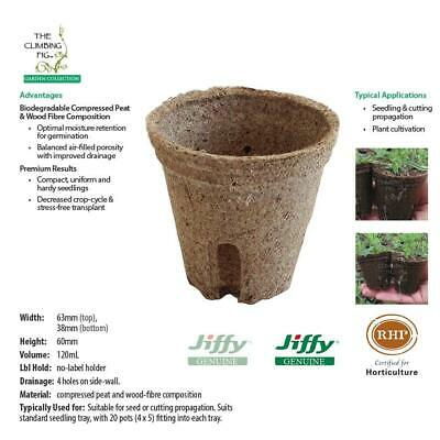 60mm Jiffy pots with slits. Ideal for plant seed seedling & cutting propagation.