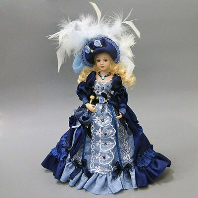 "Porcelain doll 10"" beautiful  beautiful doll Lady in Victorian"