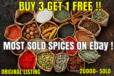 100g Whole and Ground Indian Herbs & Spices, curry masala *60 variety*