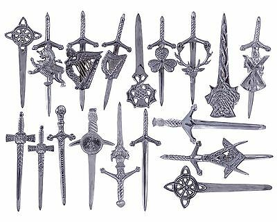 New Highland Scottish Kilt Pins In Chrome Finish/Brooch Kilt Pins Various Design