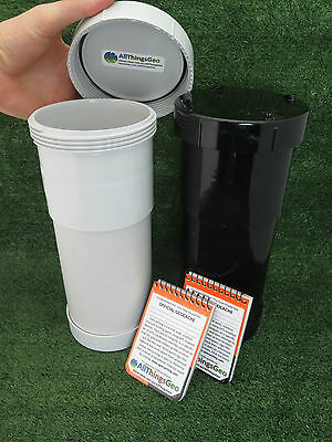 100mm PVC Long Geocache Containers Stealth Black or White Ready to Hide Regular