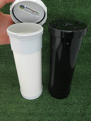 90mm PVC Long Geocache Containers Stealth Black or White Ready to Hide Regular