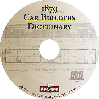 1879 The Railroad Car Builders { Train and Railway History } Dictionary on DVD