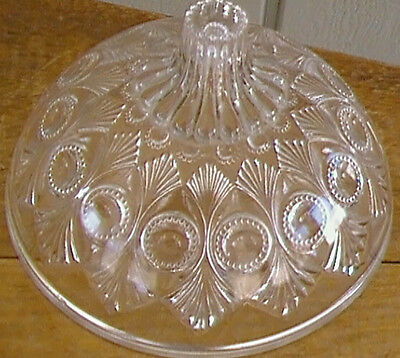 Pressed Glass Dome Shaped Lid GLASS RELIEF PATTERN True Antique