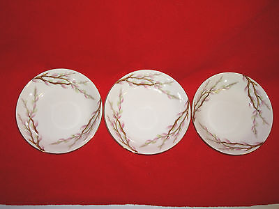 """3 LOT KENT CHINA """"SPRING WILLOW  (JAPAN) BERRY BOWLS IN MINT CONDITION !!"""