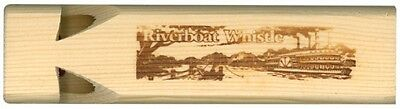 Riverboat whistle. Handmade wooden whistle which sounds just like a riverboat.