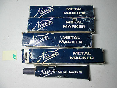 "Lot Of 4 New In Box Nissen Metal Marker White 1/8"" (188-2)"