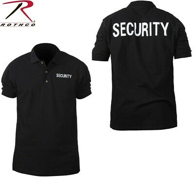 SECURITY Black Law Enforcement Double Sided Polo Short Sleeve Shirt 7698