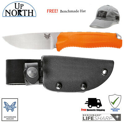 Benchmade HUNT 15008-ORG STEEP COUNTRY Fixed Blade Hunting Knife FREE HAT