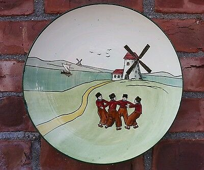 Austrian hand painted Windmill scene Plate by Haag #159