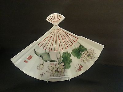 Lotus The Toscany Collection Japan Fan Shape Plate Corner Chip NICE!!