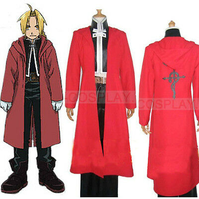 Full Metal Alchemist Edward Elric Cosplay Costume Outfit Size S-XXL