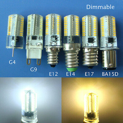 G4/G9/E12/E14/E17/BA15D 3w Dimmable 80 3014 SMD LED Light Bulb Silicone Cover