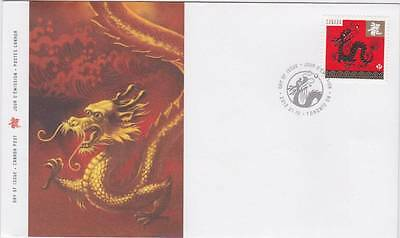 Canada 2012 FDC -Lunar New Year 4 Series 2 - Year of the Dragon -Value: $3.20