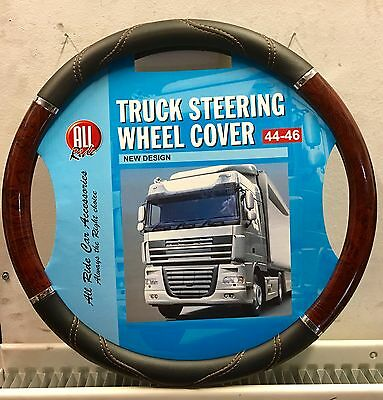 Wood Effect Steering Wheel Cover Medium 44-46 Lorry Truck HGV Bus Coach TA-72283