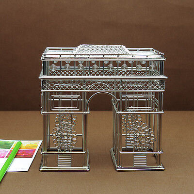 Arc de Triomphe Wire Model Replica Statue of Paris, France Steel Architecture