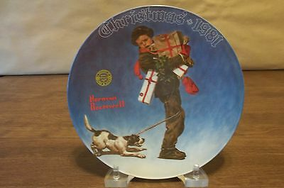Norman Rockwell 1981 Christmas Plate * Excellent Condition *