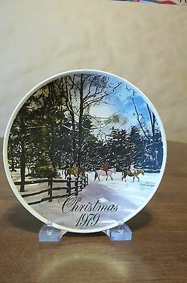 Smuckers 1979 Christmas Plate  - Excellent * Free Shipping !