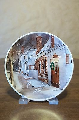 Smuckers 1976 Christmas Plate  - Excellent * Free Shipping !