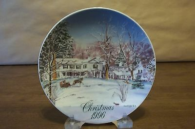 Smuckers 1996 Christmas Plate - Excellent * Free Shipping !