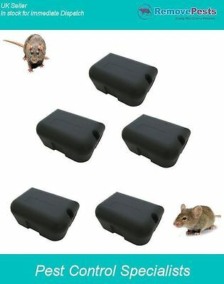 5 heavy duty rat bait poison stations, safe secure and lockable