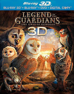 Legend of the Guardians: The Owls of Ga'Hoole (Blu-ray/DVD, 2010, 3-Disc Set