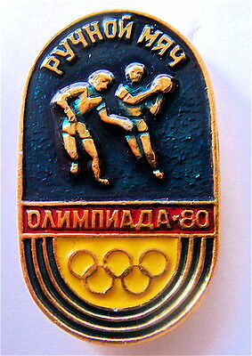 OLYMPIC PINS MOSCOW-'80 OLYMPIC GAMES HANDBALL COMPETITIONS PIN