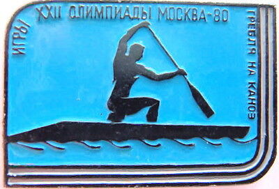 MOSCOW-80 OLYMPIC GAMES ROWING CANOEING KAYAK  PIN