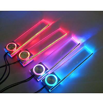Rotatable Car Auto 12V LED Light Interior Decoration Floor Atmospher Lamp 4 In1