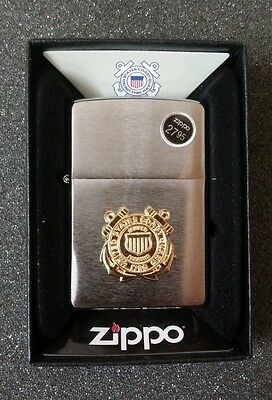"""ZIPPO """"UNITED STATES COAST GUARD"""" FULL SIZE LIGHTER #280CG / LOWEST SHIPPING"""
