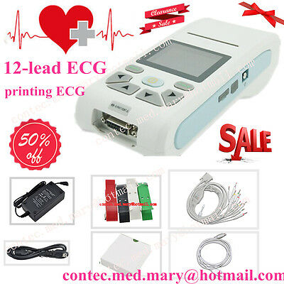 NEW,3/6/12-lead ECG EKG Machine,ECG90A Electrocardiograph with Software HOT SALE