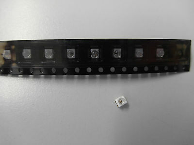 10x HSMC-A431 Led smd RED, Plcc4, Rot 3350 mcd, AVAGO + Linse (Lager E267)