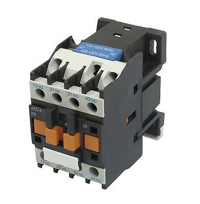 Contactor Relay JZC4-22 110V 50/60Hz Coil 10A 2.2KW 3P Three Pole 2NO 2NC
