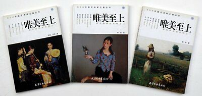 3 Chinese oil painting books by masters second-hand