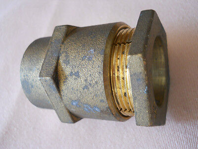 """NEW 1"""" Brass Female Compression Straight Service Water Line Coupling"""