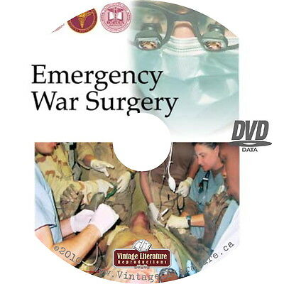 Emergency War Surgery Manual { 488 Page ~ Self Survival Book } on DVD