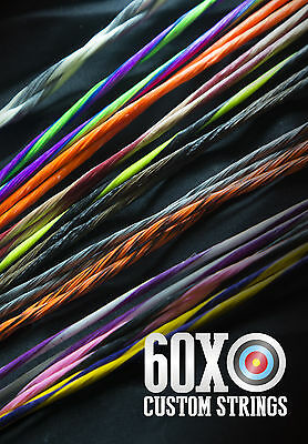 """60X Custom Strings 56 3//4/"""" String Fits Bowtech Allegiance 2007 Bow Bowstring"""