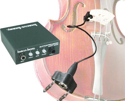 Barcus-Berry 3110 Clamp-on Violin Piezo Bridge Pickup with 3000A Preamp/EQ, NEW!