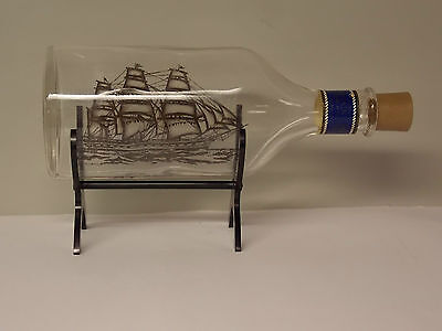 "Vintage Avon ""Captain's Pride"" Ship in a Bottle with stand"