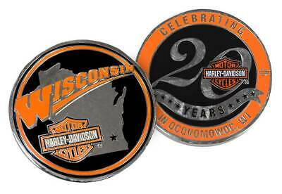 Harley-Davidson Wisconsin Dealership Challenge Coin Celebrating 20 Years WHDCOIN