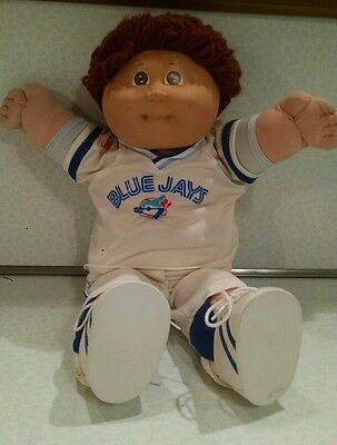 Vintage Cabbage Patch Doll Toronto Blue Jays Baseball Player Brown Hair and Eyes