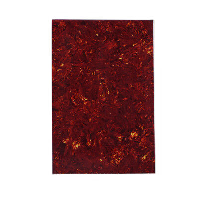 NEW Guitar Bass Pickguard Material Blank Sheet 4Ply Red Tortoise Shell 29x43cm