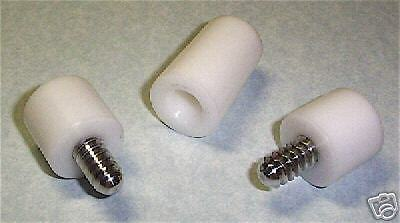 DELRIN JOINT PROTECTORS FIT 3/8 x 10  CUE  WHITE NEW