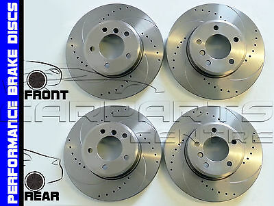 Fiat Multipla Rear Grooved Drilled Grooved Brake Discs 98